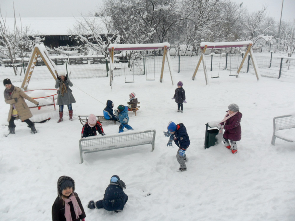 Zimska uživancija u vrtiću