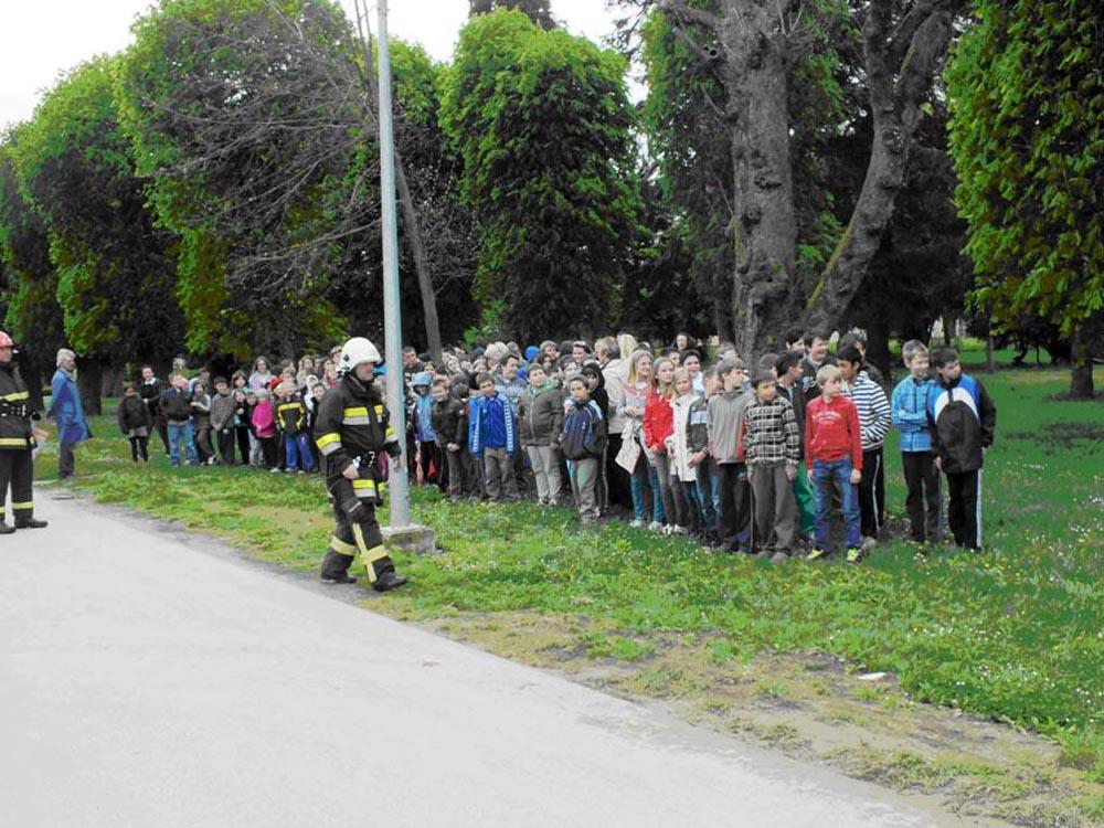Pokazna vježba u OŠ Koprivnički Bregi