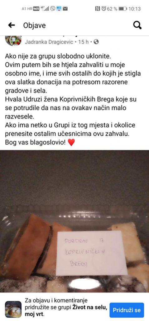 """""""Dobro se dobrim vraća"""" – donacija Udruge žena Bregi"""